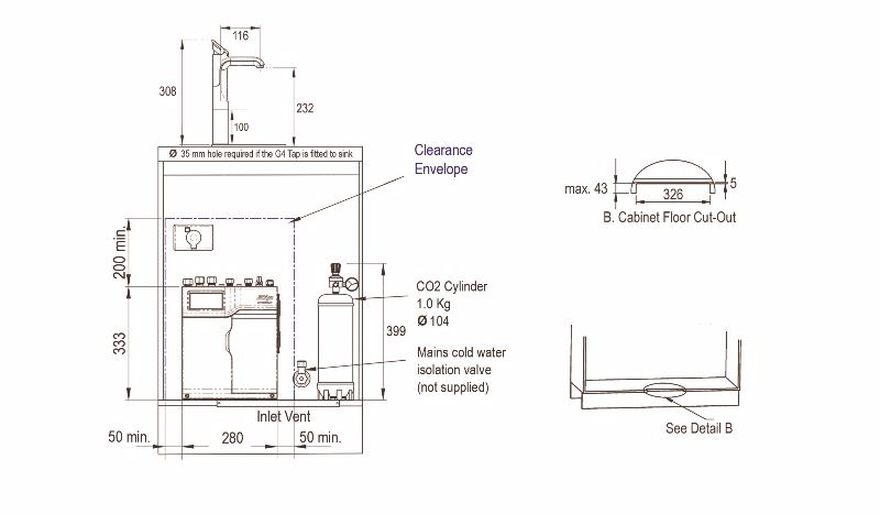 Installation diagram Hydrotap BCS