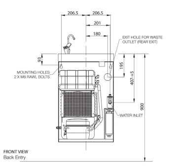 wall mounted chiller installation diagram